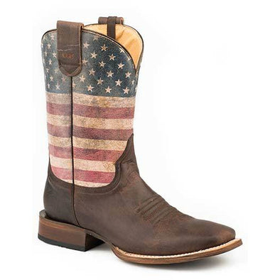 Men's Roper American Patriot Concealed Carry Boots Handcrafted Performance System - yeehawcowboy