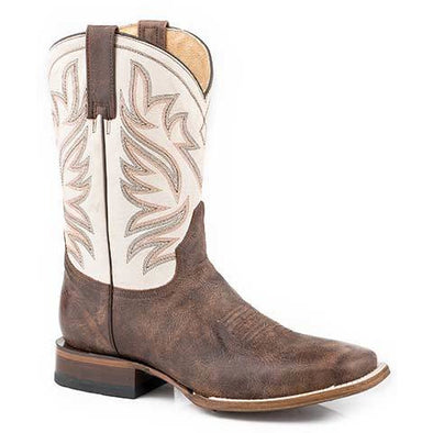Men's Roper Parker Leather Boots Handcrafted - yeehawcowboy