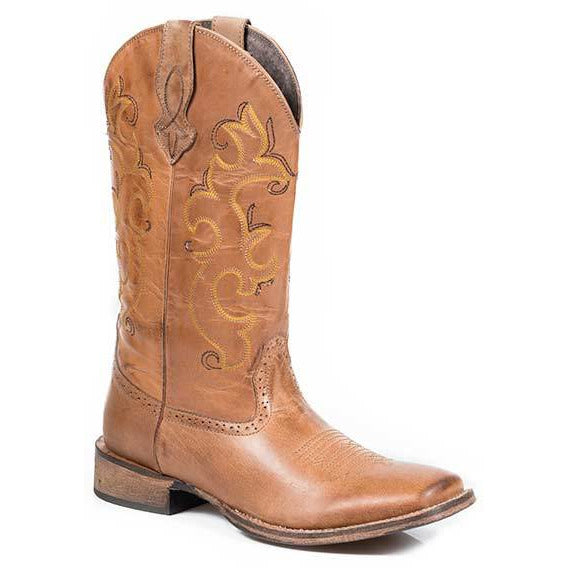 Women's Roper Lindsey Leather Boots Handcrafted - yeehawcowboy