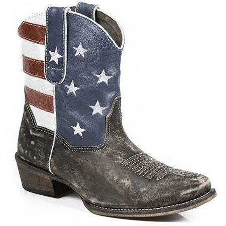 Women's Roper  American Beauty  Boots Handcrafted - yeehawcowboy