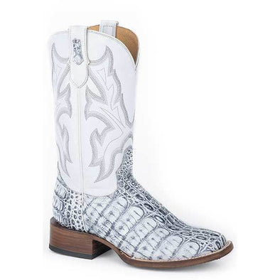 Women's Roper Snappy Caiman Belly Boots Handcrafted - yeehawcowboy