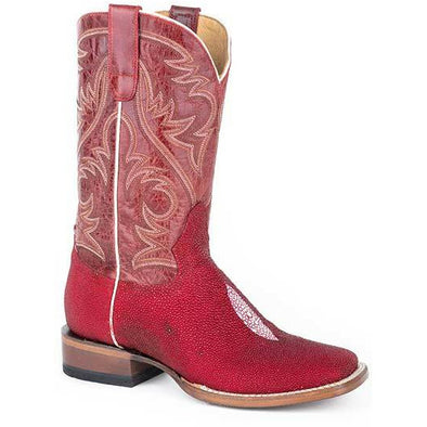 Women's Roper All In Single Stone Stingray Boots Handcrafted - yeehawcowboy
