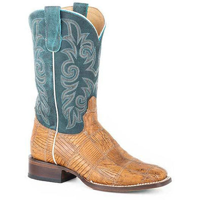 Women's Roper Exotic Patchwork Teju Lizard Boots Handcrafted - yeehawcowboy