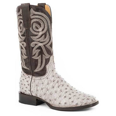 Women's Roper All In Ostrich Boots Handcrafted - yeehawcowboy