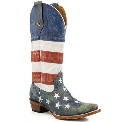 Women's Roper  Americana Boots Handcrafted - yeehawcowboy