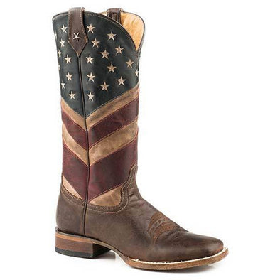 Women's Roper Old Glory With Flextra Calf Boots Handcrafted - yeehawcowboy