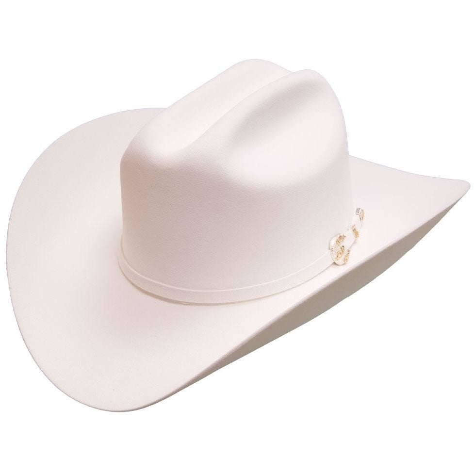 1000x Larry Mahan Imperial Hat Genuine Mink White - yeehawcowboy 1bb7f38adc8