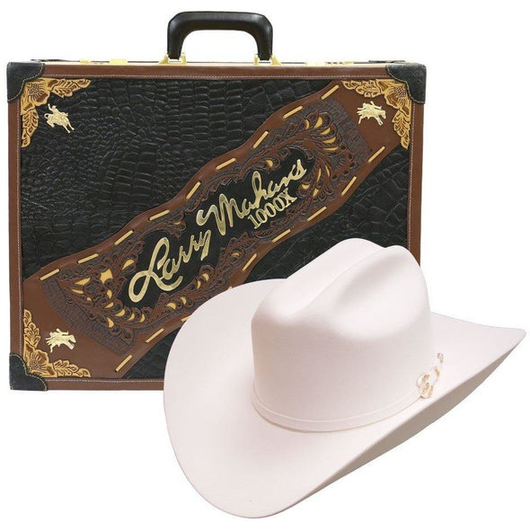 1000x Larry Mahan Imperial Hat Genuine Mink White - yeehawcowboy