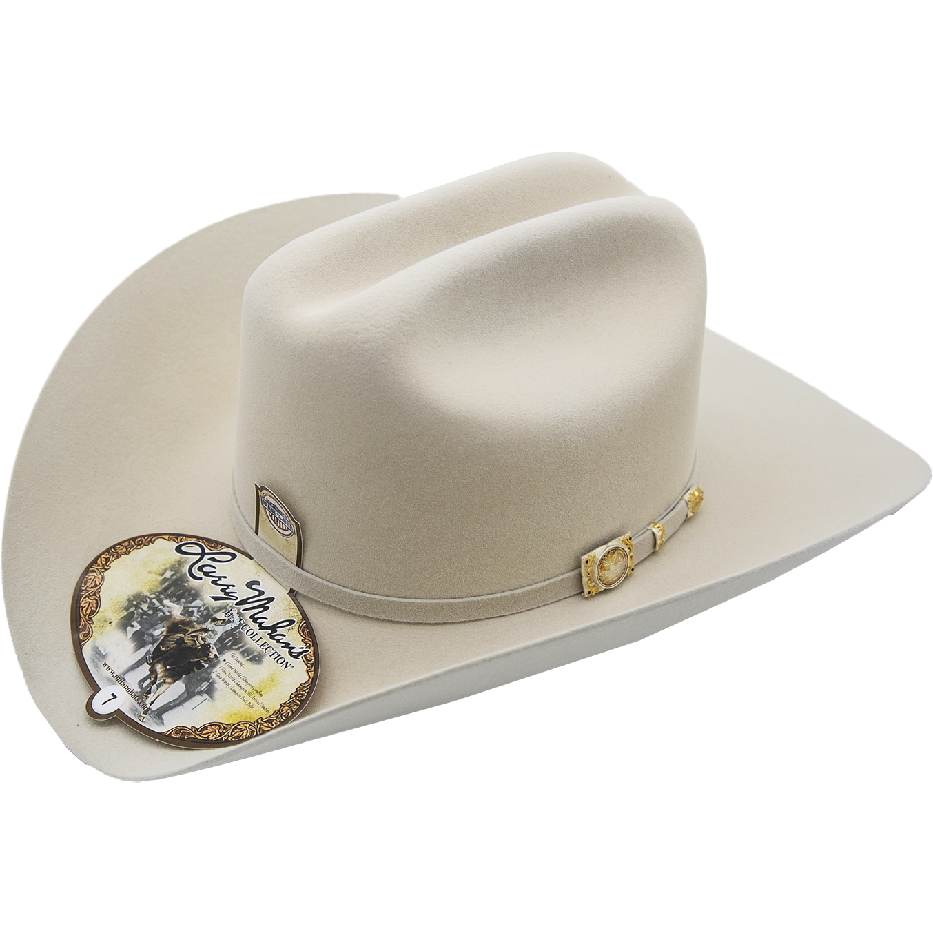 894a512dc18d5 100x Larry Mahan Independencia Fur Felt Cowboy Hat Silver Belly -  yeehawcowboy