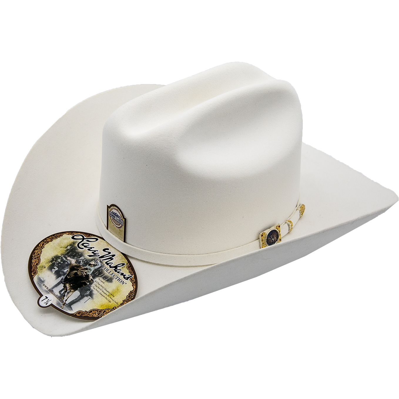 100x Larry Mahan Hat Independencia White Premium Fur Felt Cowboy Hat ... e1d701c4682