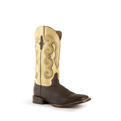 Men's Ferrini Morgan Ostrich Boots Handcrafted Chocolate - yeehawcowboy
