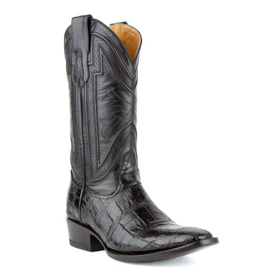 Men's Ferrini Stallion Alligator Belly Boots Handcrafted Black - yeehawcowboy