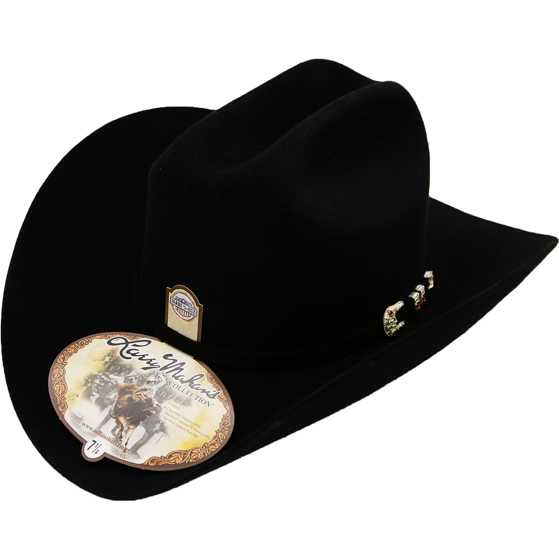 d5949ea5be6cc 10x Larry Mahan Hat Tucson Black Fur Felt Cowboy Hat For Sale Online ...