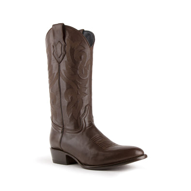 Men's Ferrini Jackson Leather Boots Handcrafted Chocolate - yeehawcowboy