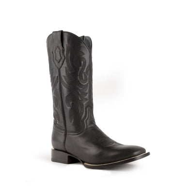 Men's Ferrini Jackson Leather Boots Handcrafted Black - yeehawcowboy