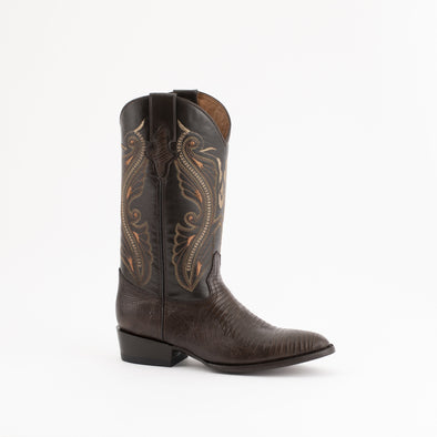 Men's Ferrini Taylor Teju Lizard Boots Handcrafted Brown - yeehawcowboy