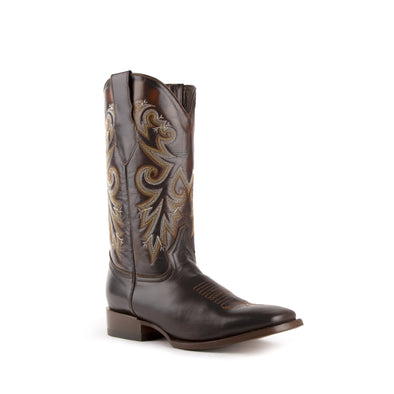 Men's Ferrini Tundra Leather Boots Handcrafted Chocolate - yeehawcowboy
