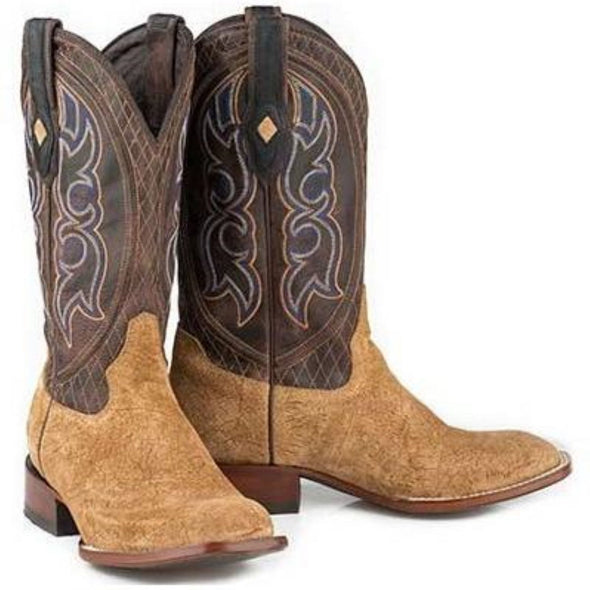 Men's Stetson Great Falls Genuine Hippo Boots Square Toe Handcrafted JBS Collection - yeehawcowboy