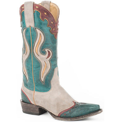 Women's Stetson Jetta Leather Boots Handcrafted - yeehawcowboy
