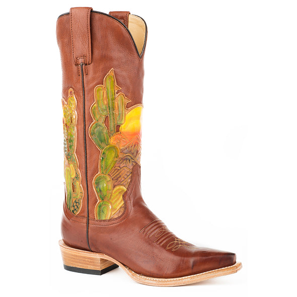 Women's Stetson Goldie Leather Boots Handcrafted - yeehawcowboy