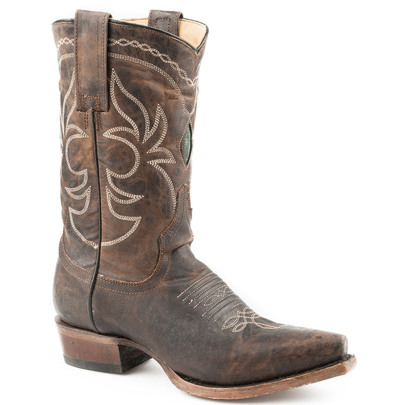Women's Stetson Iris Leather Boots Handcrafted - yeehawcowboy