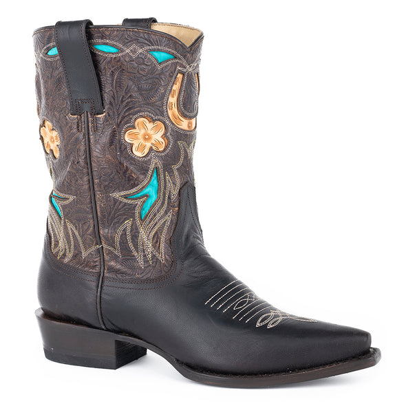 Women's Stetson Willa Leather Boots Handcrafted - yeehawcowboy