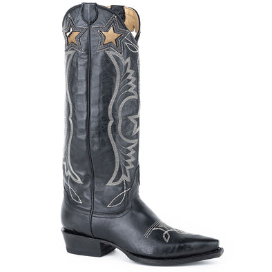 Women's Stetson Celeste Leather Boots Handcrafted - yeehawcowboy