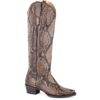 Women's Stetson Yasmin Python Boots Handcrafted - yeehawcowboy