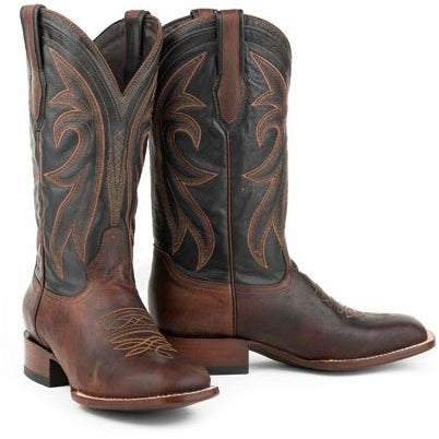 Men's Stetson Cody Boots Square Toe Double Welt Handcrafted - yeehawcowboy