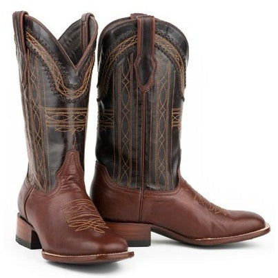 Men's Stetson Denver Boots Square Toe Double Welt Handcrafted - yeehawcowboy