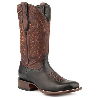 Men's Stetson Bridger Black Goat Boots Handcrafted JBS Collection - yeehawcowboy