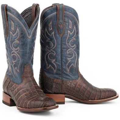 Men's Stetson Bozeman Caiman Belly Boots Handcrafted JBS Collection - yeehawcowboy