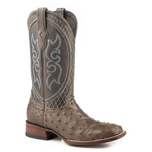 Men's Stetson Ozzy Grey Ostrich Boots Handcrafted JBS Collection - yeehawcowboy