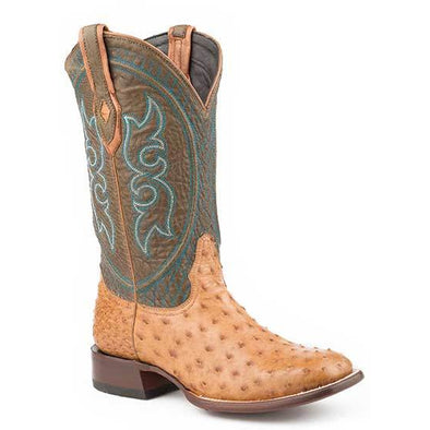 Men's Stetson Pablo Ostrich Boots Handcrafted JBS  Collection - yeehawcowboy