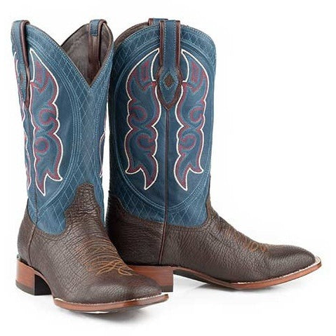 Men's Stetson Harve Sharkskin Boots Square Toe Handcrafted JBS Collection - yeehawcowboy