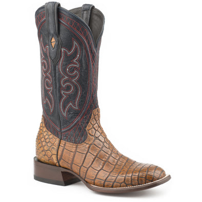 Men's Stetson Roundup Taupe Alligator Boots Handcrafted JBS Collection - yeehawcowboy