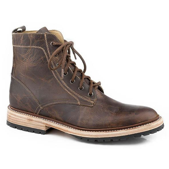 Men's Stetson Chukka Leather Lace Up Boots Handcrafted - yeehawcowboy