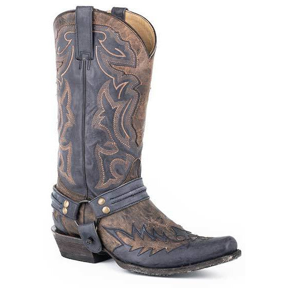 Men's Stetson Outlaw Bad Guy Leather Boots Handcrafted - yeehawcowboy
