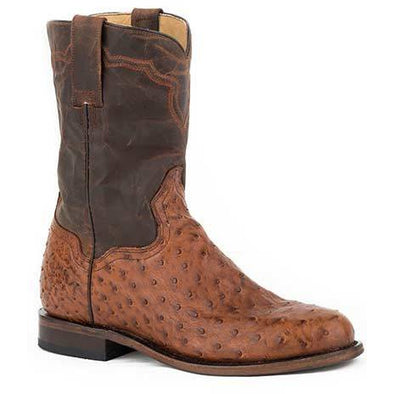 Men's Stetson Puncher Exotic Ostrich Boots Handcrafted - yeehawcowboy