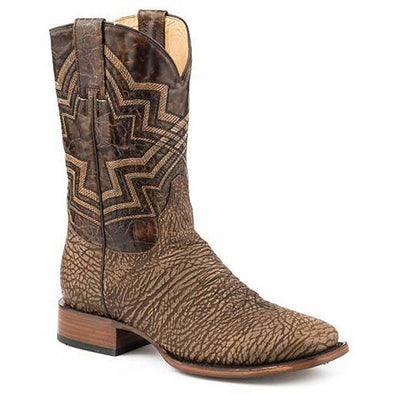 Men's Stetson Hank Bull Leather Boots Handcrafted - yeehawcowboy