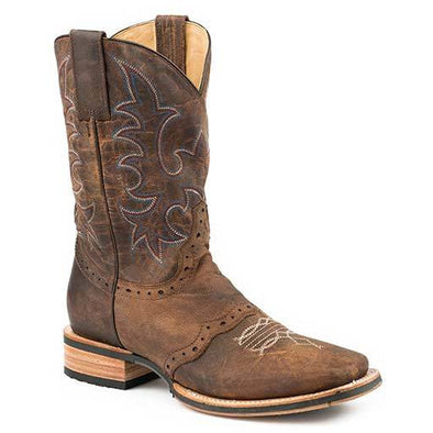 Men's Stetson Barret Tru-X Outsole Leather Boots Handcrafted Tru-X System - yeehawcowboy