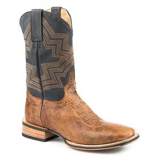 Men's Stetson Goddard Tru-X Outsole Leather Boots Handcrafted - yeehawcowboy