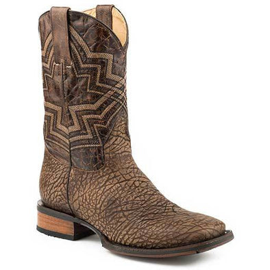 Men's Stetson Hank Tru-X Outsole Bull Leather Boots Handcrafted Tru-X System - yeehawcowboy