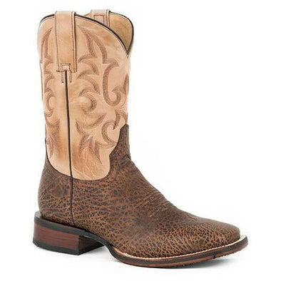 Men's Stetson Ian Tru-X Outsole Bull Leather Boots Handcrafted Tru-X System - yeehawcowboy