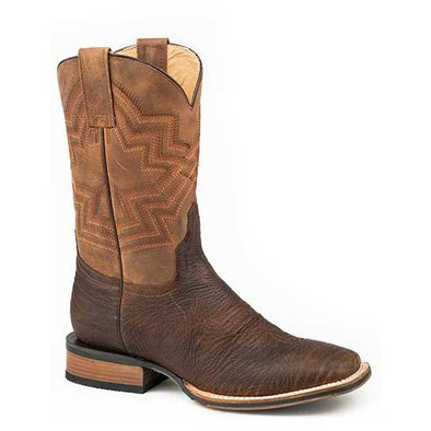 Men's Stetson James Bull Leather Tru-X Outsole Boots Handcrafted Tru-X System - yeehawcowboy