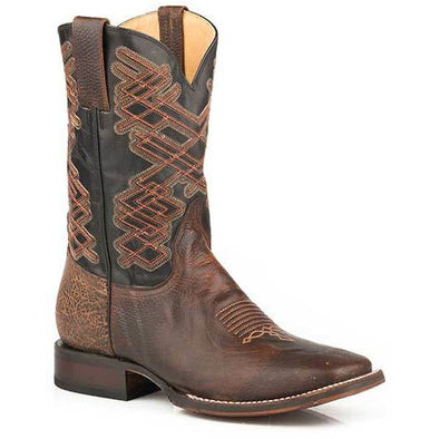 Men's Stetson Tyson Tru -X Leather Boots Handcrafted Brown - yeehawcowboy