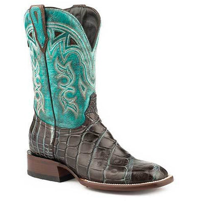 Women's Stetson Madrid Brown Alligator Exotic Boots Handcrafted JBS Collection - yeehawcowboy