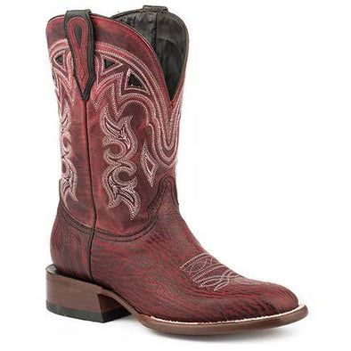 Women's Stetson Meadow Cherry Shark Exotic Boots Handcrafted JBS Collection - yeehawcowboy