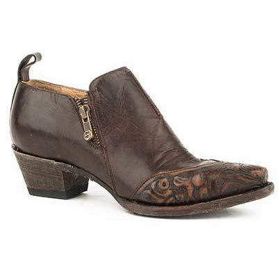 Women's Stetson Phoebe Leather Boots Handcrafted - yeehawcowboy