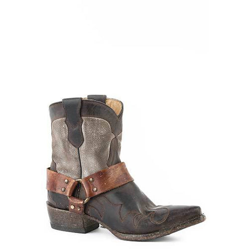 Women's Stetson Jade Short Leather Boots Handcrafted - yeehawcowboy